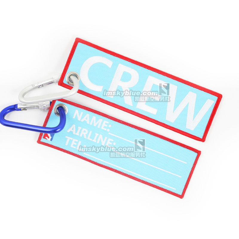 Creative Crew Chain Buckle Luggage Tag Blue Special Gift for Aviation Lover Flight Crew Pilot