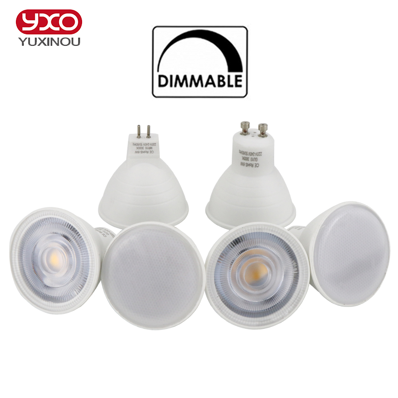 1PCS  Dimmable LED Light Bulb Spotlight GU10 MR16 6W 220V COB Chip Beam Angle 30/120 COB LED Lamp For Downlight/Ceilinng Lamp 15w dimmable led br40 light bulb e27 e26 screw base wide beam angle 120 degrees 100w halogen bulb equivalent