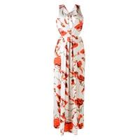 TFGS Women S New Fashion Design Long Dress V Neck Floral Dress Sexy High Split Summer