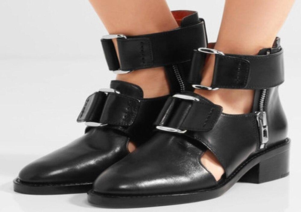 Sandalias clásicas de hebillas de cuero para hombre sandalias de gladiadores de Punta puntiaguda para hombre con hebilla transpirable sandalias romanas zapatos negros-in Sandalias de hombre from zapatos    1