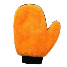 1pcs Coral Fleece Velvet Car Wash Gloves Cleaning Sponge Cloth Care Mitt Lined Waterproof Furniture Glass Dust Cleaner Washer(China)