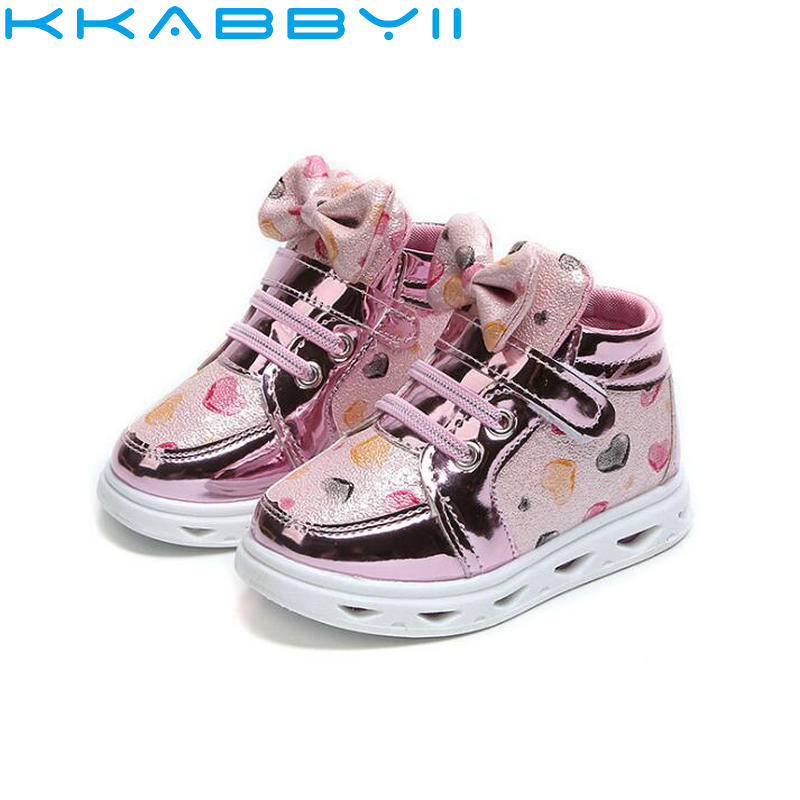 Дети Повседневное Обувь со светодиодной подсветкой Обувь для девочек светящиеся Спортивная обувь дети мода Мягкая обувь с светодиодный св... ...