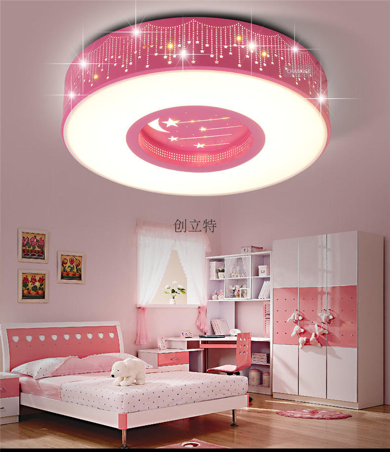 US $125.0 |Round LED children\'s room star ceiling round boy girl\'s bedroom  super lovely ceiling light ZA ET4-in Ceiling Lights from Lights & Lighting  ...