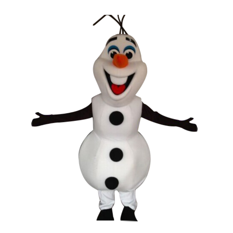 Smiling Olaf Mascot Costume Cartoon Character Costume Snowman Olaf Mascot Costume for Halloween party event