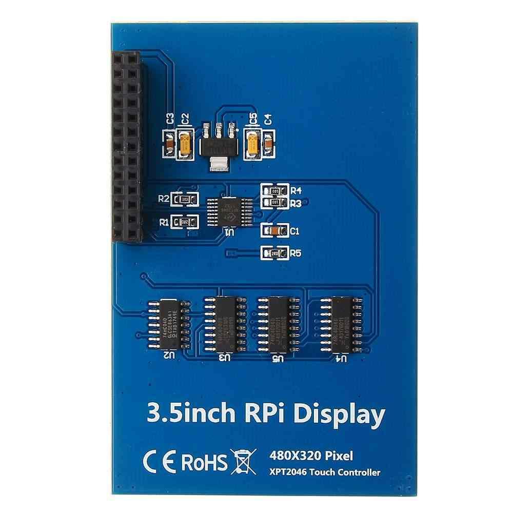 3.5 ''TFT LCD وحدة شاشة تعمل باللمس + حافظة شاشة عرض نموذج أحمر أخضر أزرق rgb المجلس لتوت العليق Pi 3