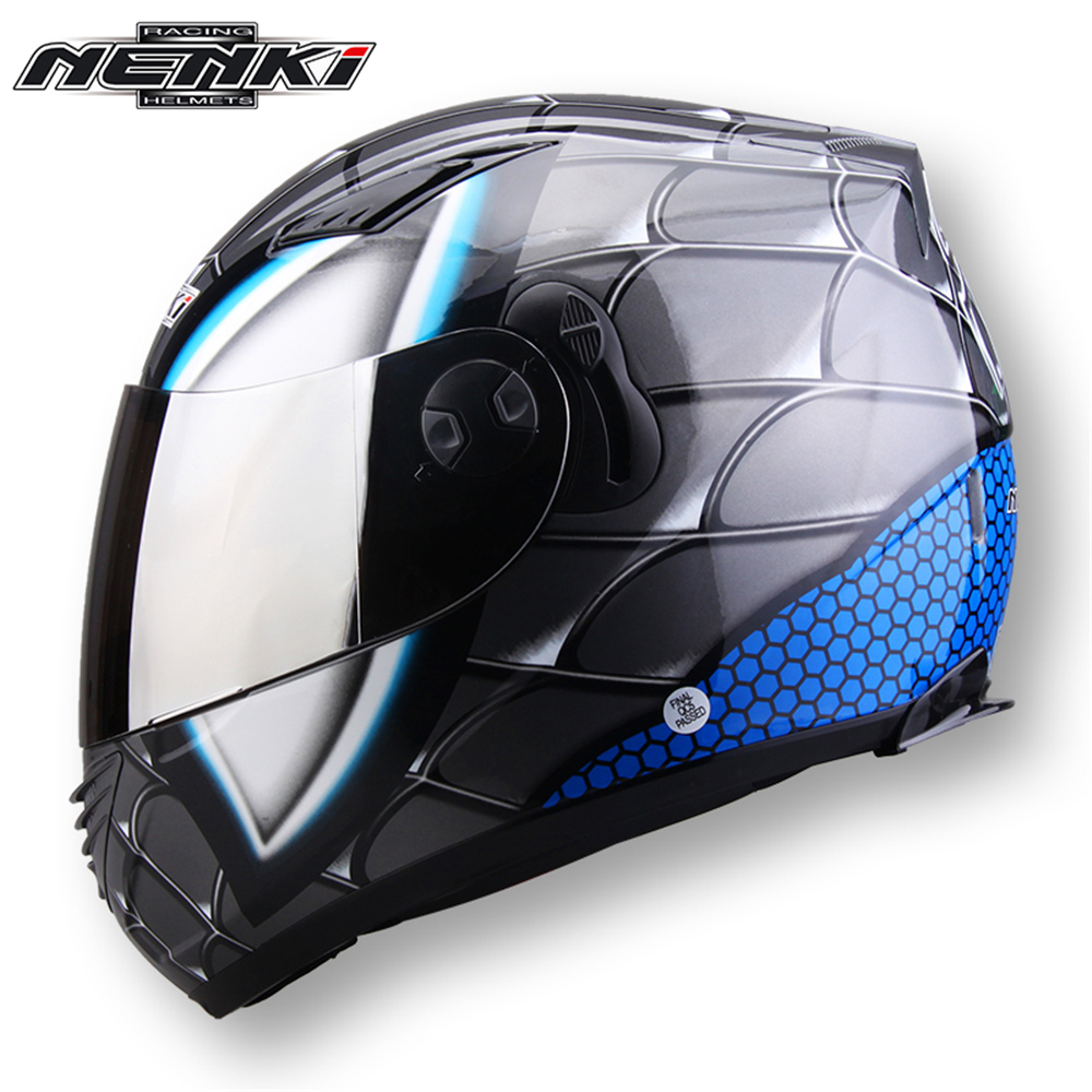 NENKI Motorcycle Helmet Scooter Motorbike Helmet Full Face Moto Helmet Men Motorcycle Racing Helmet Dual Visor Sun Shield Lens кронштейн arm media pt 19 до 35кг black