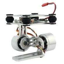 Alumínio 2 axis sem escova cardan câmera montagem controll plug para gopro 3/4/5/6/7/8 câmeras para dji fantasma trex 500/550 drone