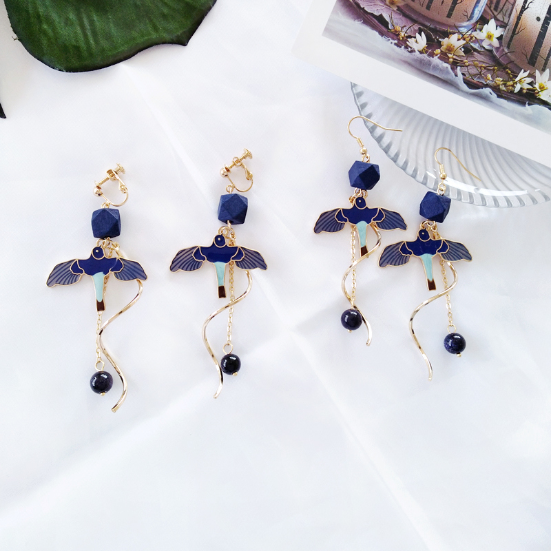 Black and Gold Pendant Earrings Flamenco Antique Gypsy Women Girl NEW DE22
