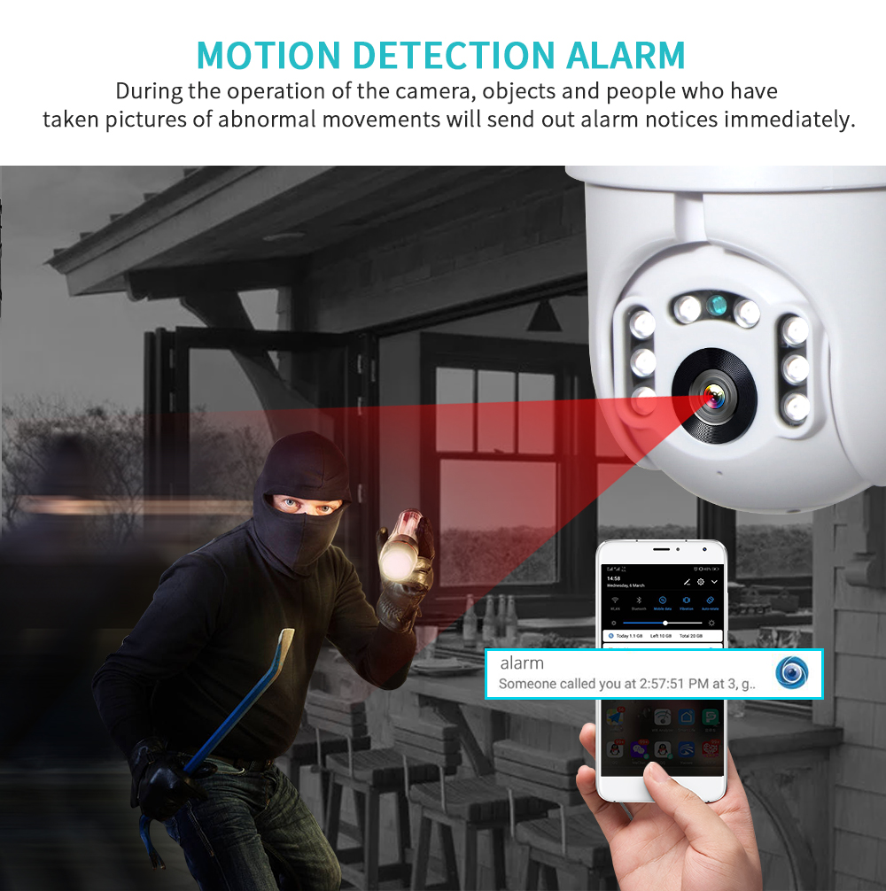 HTB1KMyvaBGE3KVjSZFhq6AkaFXab INQMEGA IP Camera WiFi 1080P Wireless Auto tracking PTZ Speed Dome Camera Outdoor CCTV Security Surveillance Waterproof Camera
