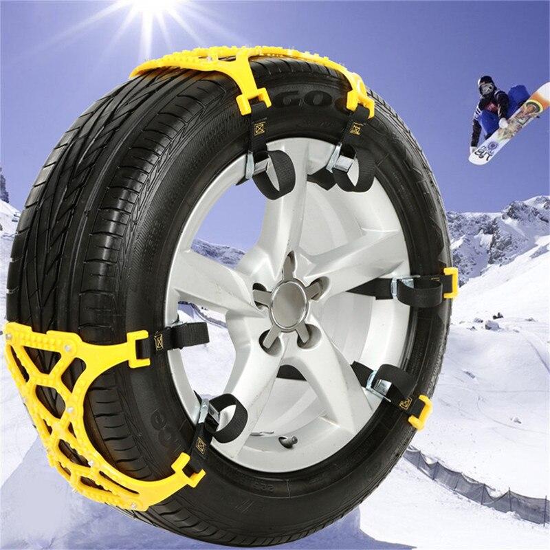 3 PCS/Pack universel épaissi TPU voiture pneu anti-dérapant chaîne pneu de secours anti-dérapant ceinture pour hiver neige route