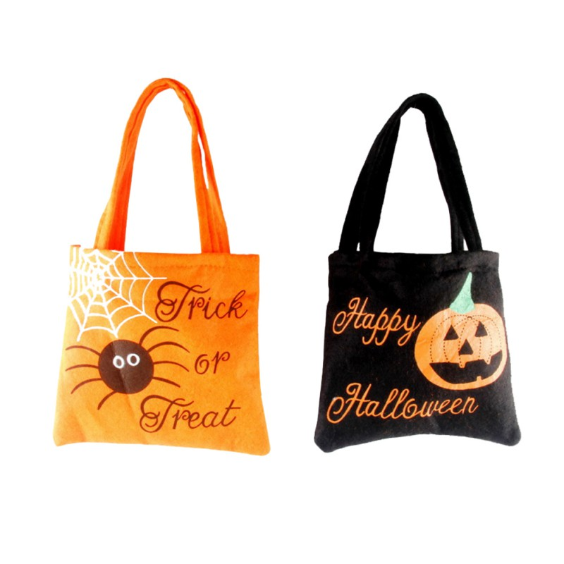 2017 new 1pcsbag halloween handbag non woven bag ghost festival child gift candy bag for childrens pouches l2 - Halloween Handbag