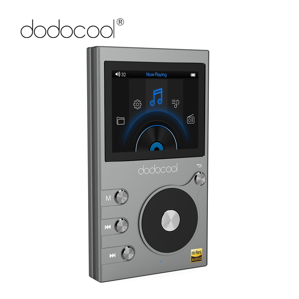 dodocool 8GB Mp3 Player High Resolution Audio Digital Lossless Sound Hi-Fi Music Player Support FM Radio Recorder TF card 256GB