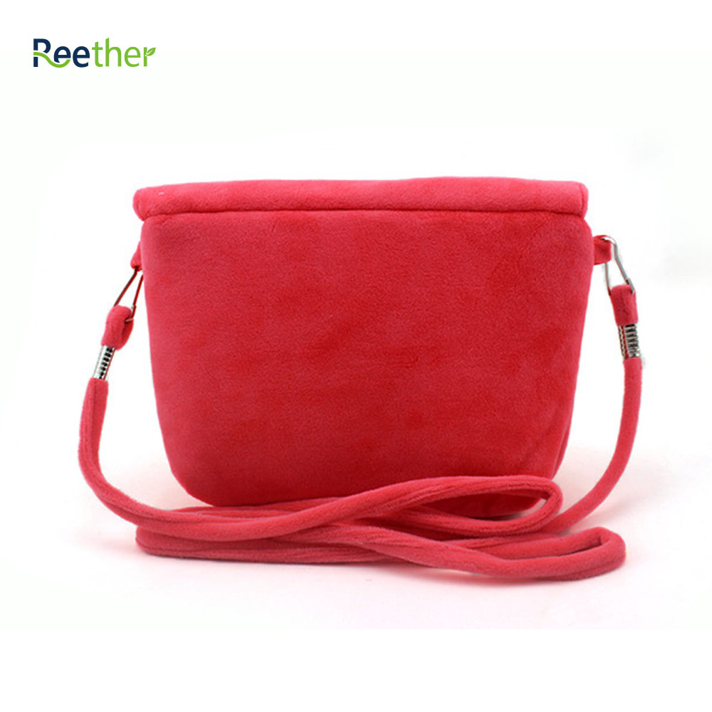 Reether Girls Plush Messenger Shoulder Bags Cell Phone Bag Flower Coin Purse Wallet Cute Pouch Cash Bag Decoration Gifts