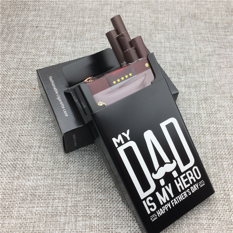 LF031 Personalized Father's Day Gift for Dad Aluminium Alloy Cigarette Case Laser Carved Will Not Fade Cigarette Box Smoking Box