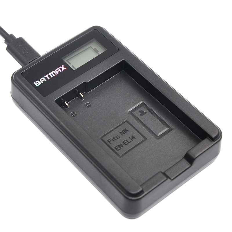 LCD USB Charger for EN-EL14 EN-EL14a ENEL14 Battery for Nikon P7800,P7100,D3400,D5500,D5300,D5200,D3200,D3300,D5100,D3100,Df.
