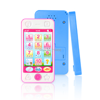Arabic English Russian French Language Learning Number Letter Mobile Phone With Music Light Early Educational Toy