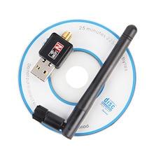 Мини USB WiFi адаптер 150 Мбит 2db Телевизионные антенны PC USB Wi-Fi приемник Беспроводной сетевой карты 802.11b/G/N высокая Скорость USB LAN Ethernet