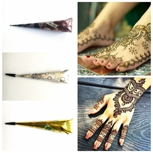 3 Color Choose Tribal Natural Herbal Indian Tattoo Henna Paste Cone for Body Art Paint Stencil Mehndi Henna Finger Cream Hand