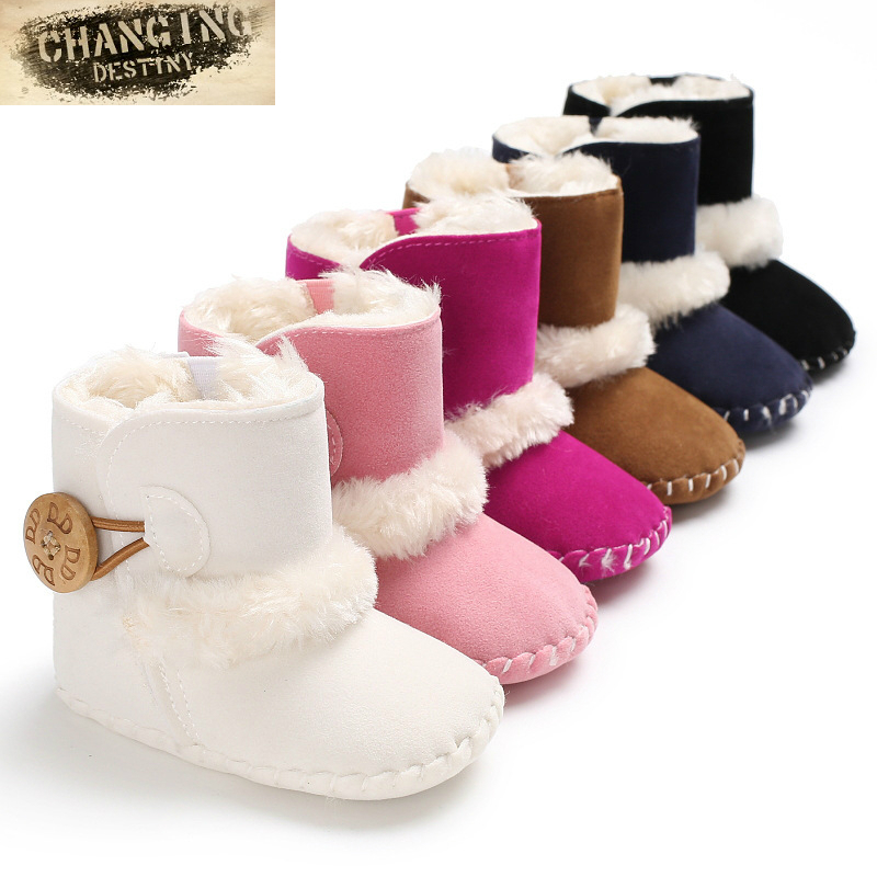 0-1 Years Old Baby Shoes Newborn Thick Non-slip Booties Girls Boys Warm Winter Baby Ankle Snow Boots Infant Warm First Walker fashion winter newborn baby boys shoes warm first walker infants boys antislip boots children s shoes lm57
