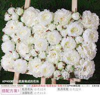 10PCS/Lot 40cm*60cm Artificial silk Pure white Hydrangea flower wall wedding decoration home decor party flowers wall