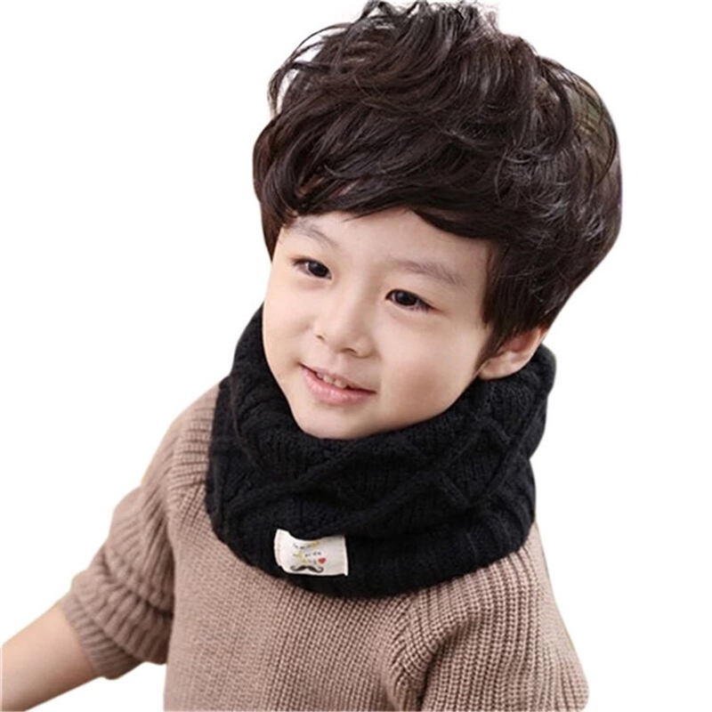 13 Colors Winter Spring Autumn Baby Scarf Children Girls Boys Kintted Wool O-Scarves Chidren Outing Protect Kint Solid Color