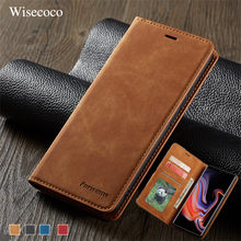 Luxury Leather Flip Case for Samsung Galaxy Note 9 S10 S9 S8 J4 J6 Plus E A6 A7 A8 2018 A30 A50 A70 Magnetic Wallet Stand Cover(China)