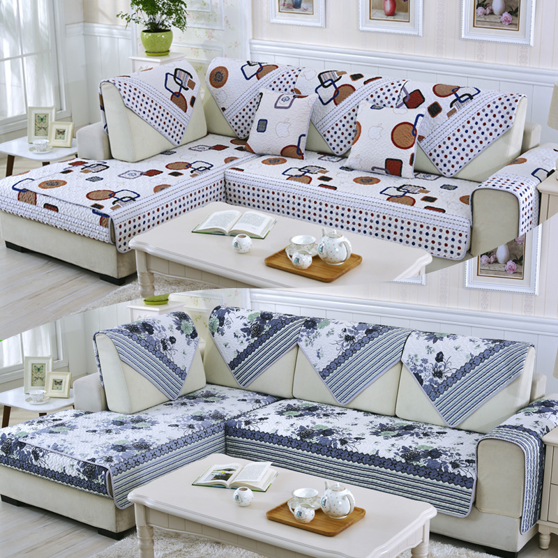 4colors 2 3 Seat Sofa Covers Fleeced Fabric Knit Eco Friendly Anti Mite Manta Sofa Slipcover