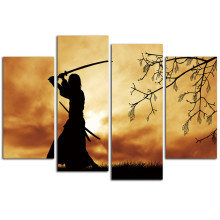 Samurai Canvas Arts For Living Room Modern Japanese samurai Wall Pictures poster and printed ArtWorks Cheap Home Decor(China)