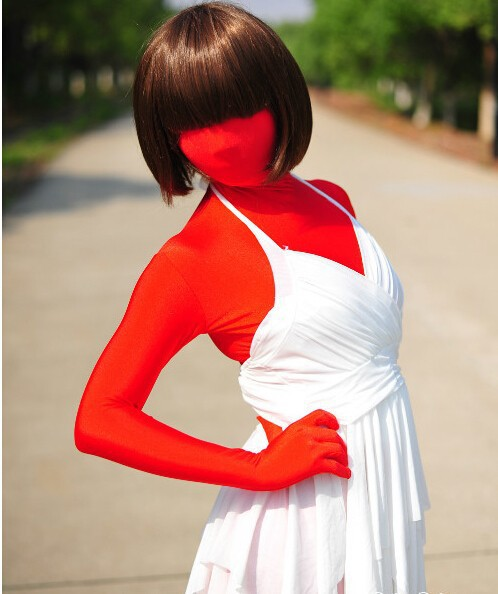 LP040018 2017 New Arrival Fetish Wear Zentai Suit Men Women Red Original Lycra Spandex Sexy