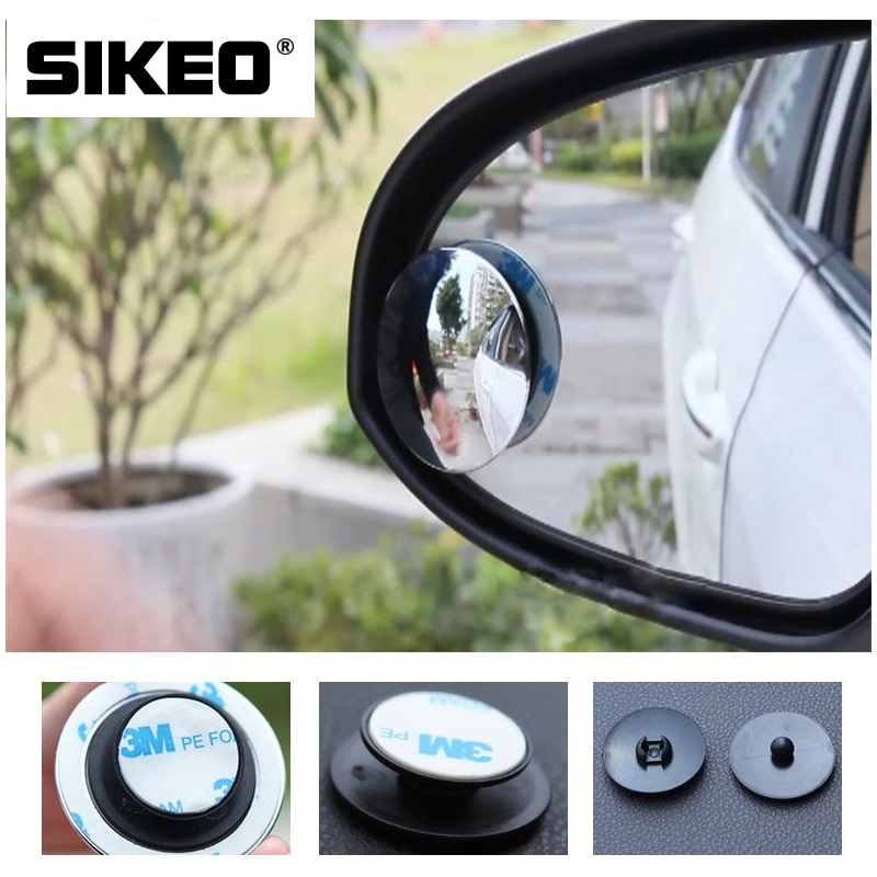 1pc Car Mirror 360 Wide Angle Round Convex Mirror Car Vehicle Side Blindspot Blind Spot Mirror Small Round RearView Mirror 3r 036 75mm spherical convex car blind spot rearview mirror black silver