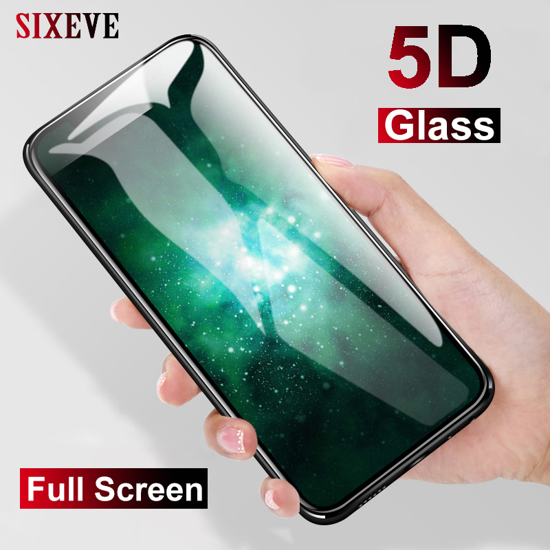 SIXEVE New 5D Tempered Glass For iPhone X 10 XS MAX XR Screen Protector Film For iPhone 6 s 6s 7 8 Plus 6Plus 6sPlus 7Plus 8Plus(China)