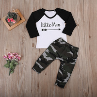 Baby Boy Clothes Sets Little Man T-Shirts Camoufla ...