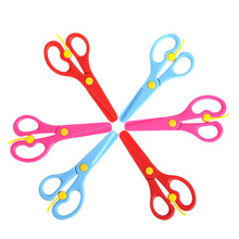 3pcs/lot Kindergarten Baby Handmade Cute Color Safety Plastic Scissors Learning Education Toys for Children Montessori Aids