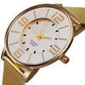 2016 Nova Famosa Marca de Ouro Genebra Casuais Relógio de Quartzo Mulheres Vestido Relógios Relogio feminino Relógio do Metal Em Aço Inoxidável