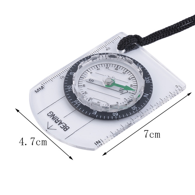 Mini Baseplate Compass Map Scale Ruler Outdoor Camping Hiking Cycling Scouts Military Compass free shipping