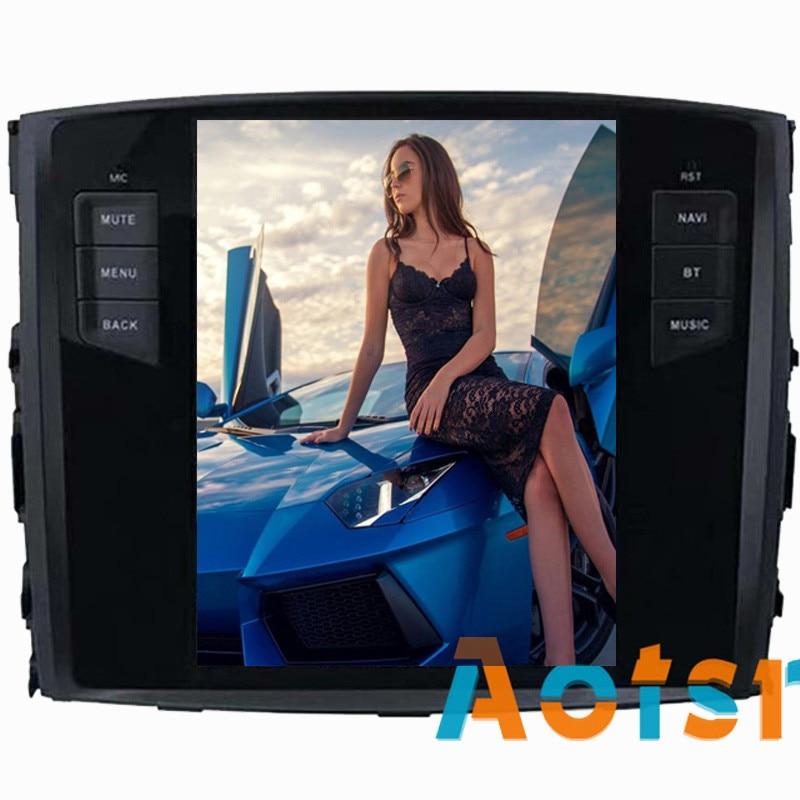 Tesla style Android 7.1 64g voiture radio gps Navi Pour MITSUBISHI PAJERO V97 V93 Shogun Montero 2006 + Voiture multimédia Lecteur aucun dvd