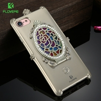 FLOVEME Elegant Phone Cases For IPhone 7 Case Glitter Diamonds Mirror Girly Coque Soft TPU Back