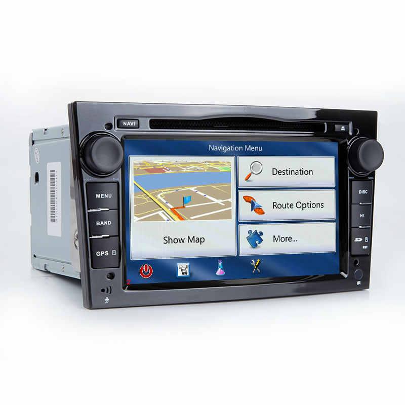 2 ディンアンドロイド 8.1 カー DVD プレーヤーオペルベクトラ C ザフィーラ B コルサ D C アストラ H グラム J meriva で Vivaro マルチメディア GPS ナビゲーションラジオ