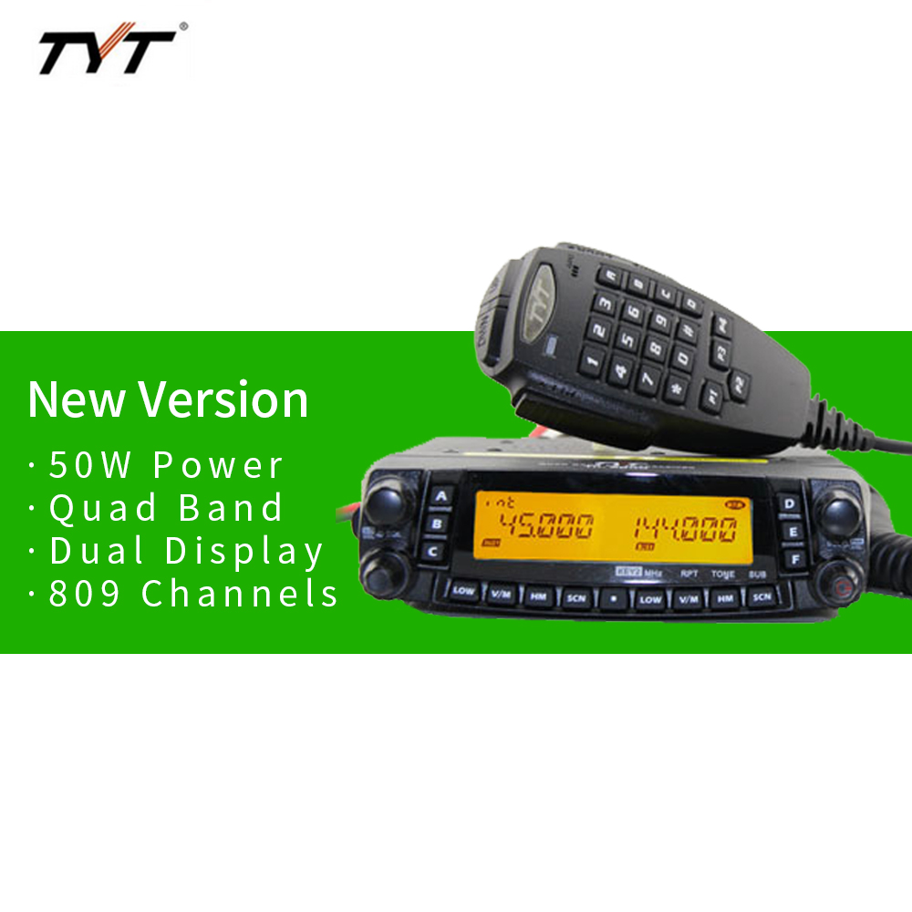 Upgraded Version <font><b>TYT</b></font> TH9800 <font><b>TH</b></font>-<font><b>9800</b></font> 50W Dual Display Repeater Scrambler VHF UHF Transceiver Car Truck Vehicle Two Way Radio image