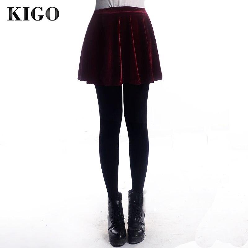 Connu KIGO Liquidazione A Vita Alta Gonna di Velluto in KIGO  ZO92