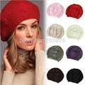 2016 new fashion women hat knitted wool beanie knitted baggy hat girls winter warm beret bob soft crochet ear protect Boonie hat