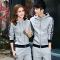 2016 new winter cardigan sweater slim men and women casual couple leisure suit