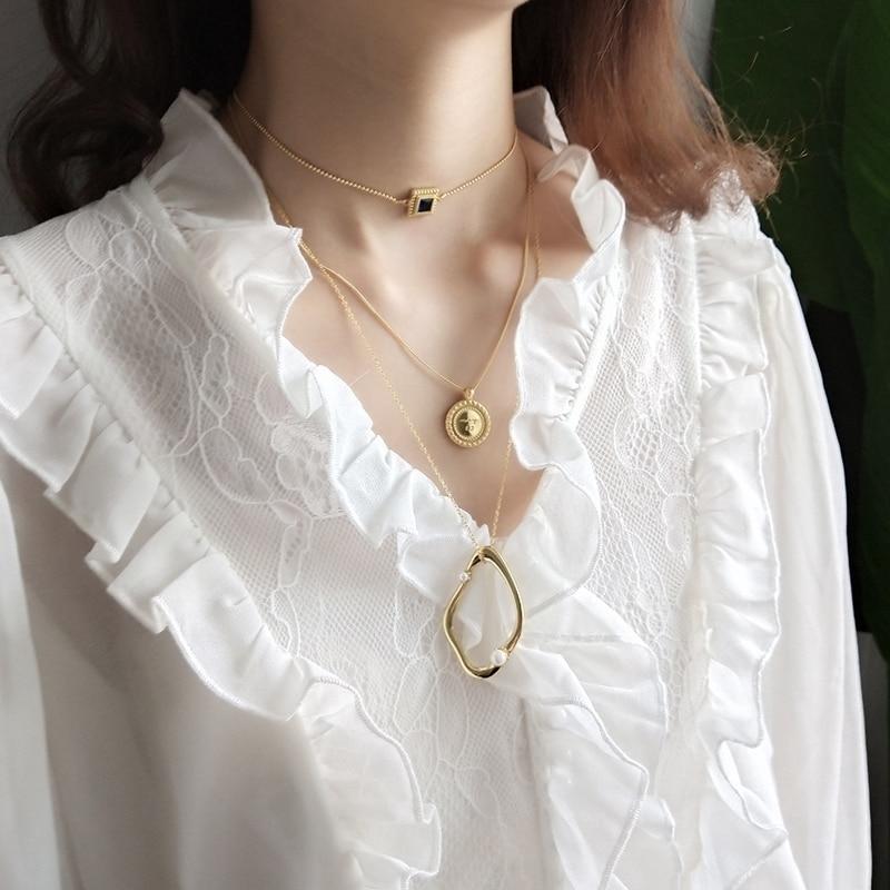 LouLeur 925 sterling silver geometrica perla pendente in oro di modo di sogno Dubai catena Del Maglione collana di perle per le donne gioielliLouLeur 925 sterling silver geometrica perla pendente in oro di modo di sogno Dubai catena Del Maglione collana di perle per le donne gioielli