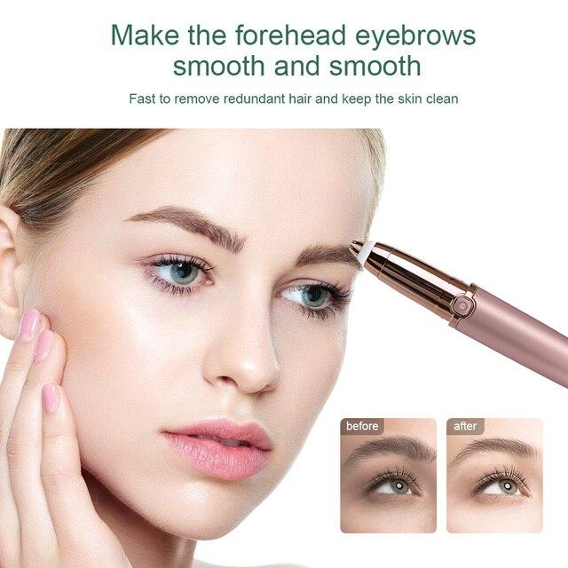 Eyebrow Trimmer Epilators Lipstick Brows Pen Hair Remover Epilator Shaver Razor Instant Painless Eyebrow Razor Epilator Portable 3