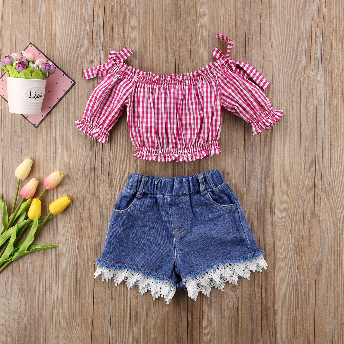 00a28de15 top 10 most popular outfit set lace top girl ideas and get free ...