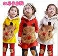 2017 ternos Two-piece suit quente modelos de inverno crianças conjunto de roupas roupas roupas meninas define crianças roupas