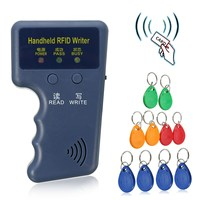 Handheld 125KHz EM4100 RFID Copier Writer Duplicator Programmer Reader 10 Pcs EM4305 T5577 Rewritable ID Keyfobs