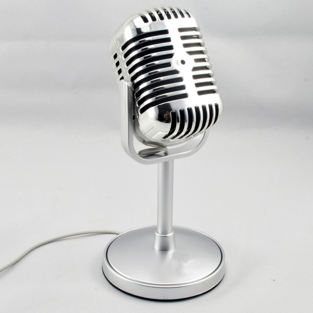 Surface Plating Professional Condenser Sound Podcast Studio Computer Microphone with Stand for Sing Record on Computer