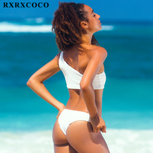 White One Shoulder Thong Swimming Suit