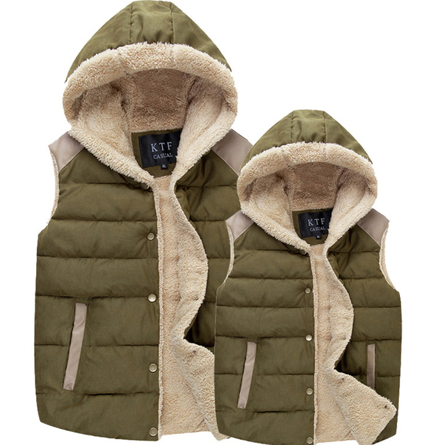 2016 New Winter Men's Hooded Vests Men Casual Thermal Sleeveless Jackets Male Fashion Warm Thick Hoodies Brand Clothing LA091